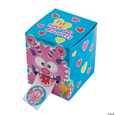 Valentine Monster Box of Stickers