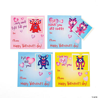 Valentine Monster Tattoos on Cards