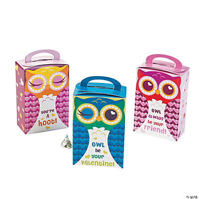 Valentine Owl Favor Boxes