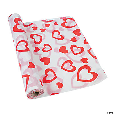 Valentine Plastic Tablecloth Roll