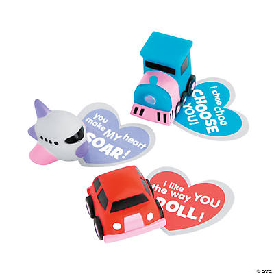 Valentine Vehicles with Cards