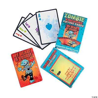 Valentine Zombie Playing Cards
