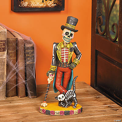 Vintage Day of the Dead Skeleton Man Statue