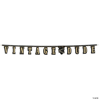 Vintage Dude Birthday Jointed Banner
