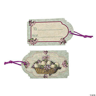 Vintage easter gift tags oriental trading discontinued vintage easter gift tags negle Images