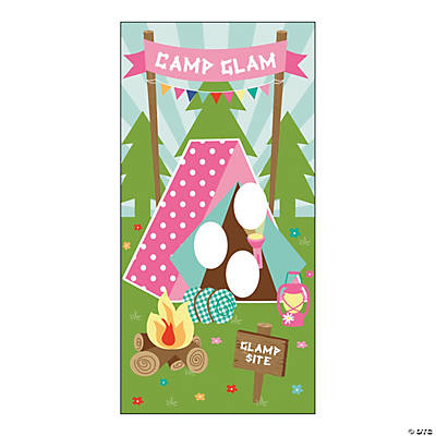 Vinyl Camp Glam Door Banner