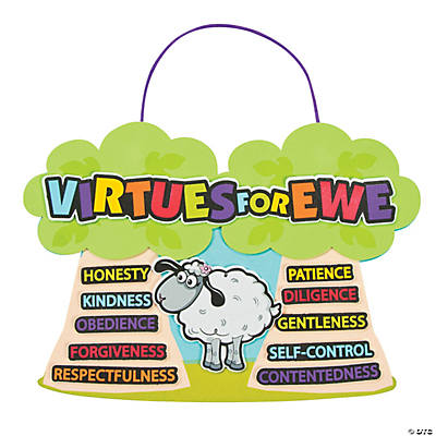 """Virtues For Ewe"" Sign Craft Kit"
