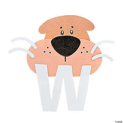 """W Is For Walruses"" Letter W Craft Kit"