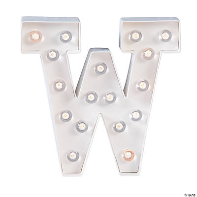 """W"" Marquee Light-Up Kit"