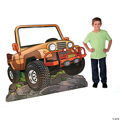 walk his way jeep cardboard stand up oriental trading discontinued. Cars Review. Best American Auto & Cars Review