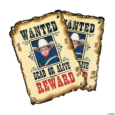 """Wanted Dead Or Alive"" Western Photo Cards"