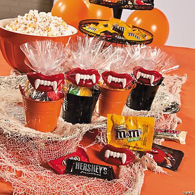 wax teeth halloween candy buffet idea