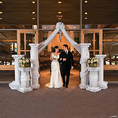 Wedding Columns & Gossamer Draping Idea