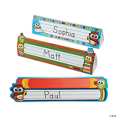 Welcome Owl Name Tag Tents