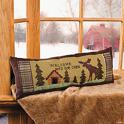 """Welcome to Our Cabin"" Pillow"