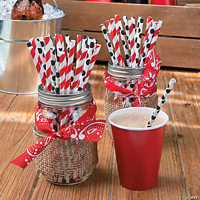 western party mason jars idea - Western Party Decorations
