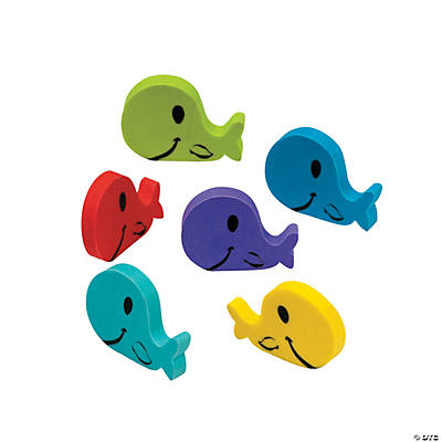 Whale Erasers