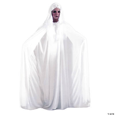 White Cape Hooded Halloween Costume for Adults