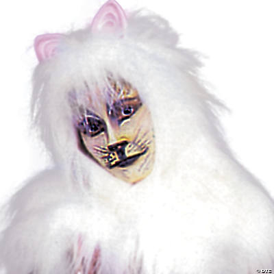White Cat Accessory Pack Costume For Adults