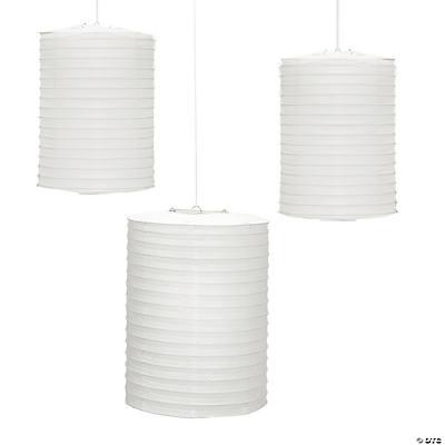 White cylinder hanging paper lanterns - White hanging paper lanterns ...