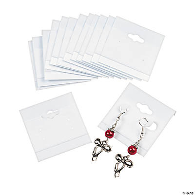 White Earring Cards