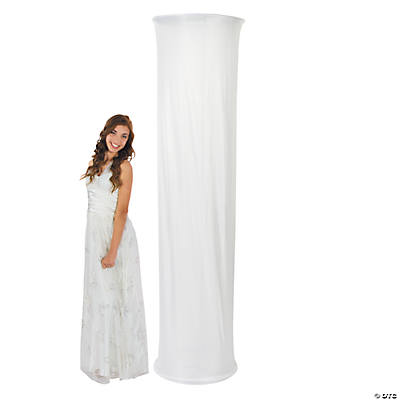 White Fabric Column Slip