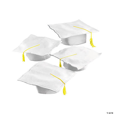 White Graduation Caps
