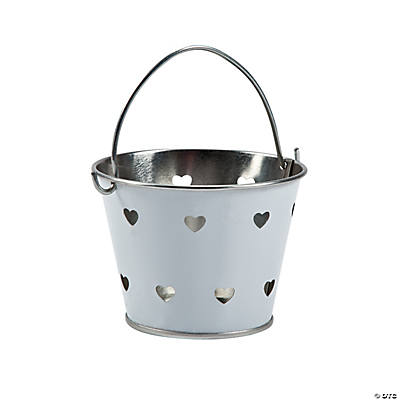 White Heart Metal Pail