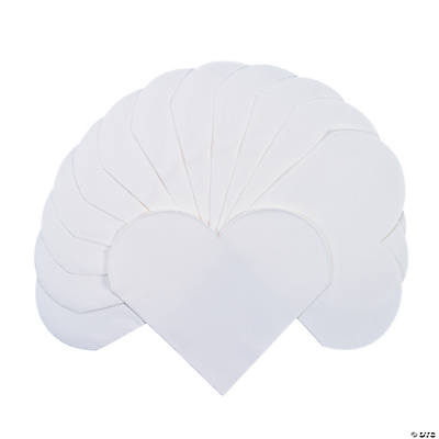 White Heart-Shaped Napkins