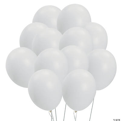 White Latex Balloons
