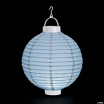 White Light-Up Paper Lanterns