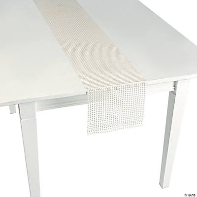 White Pearl Table Runner Roll
