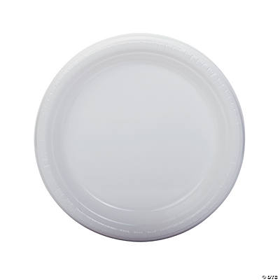 White Plastic Dinner Plates