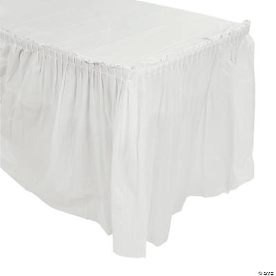 White Pleated Table Skirt