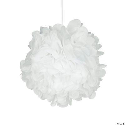 white pompom decorations