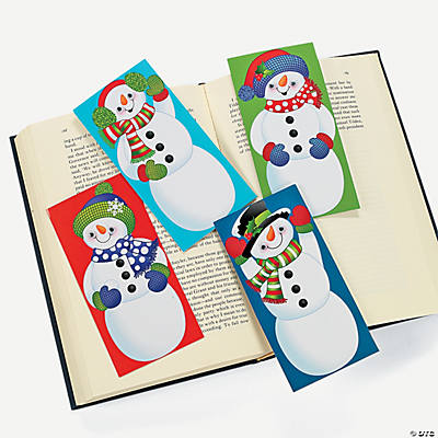 Wiggle Eye Snowman Bookmarks
