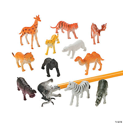12 Wildlife Animal Pencil Toppers