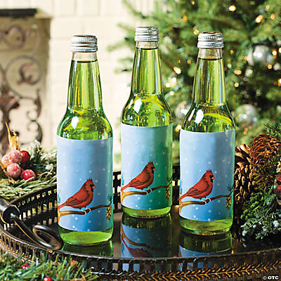 Winter Cardinal Bottle Labels