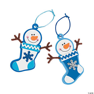 Image result for oriental trading winter snowman stocking craft