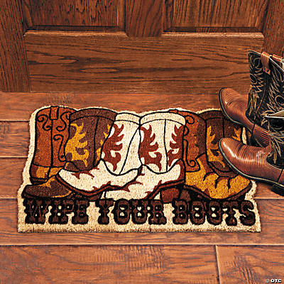 """Wipe Your Boots"" Rug"