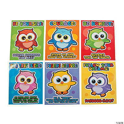 Wise Owl Character Poster Set
