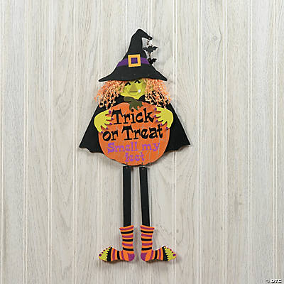 "Witch ""Trick or Treat"" Door Sign with Legs"