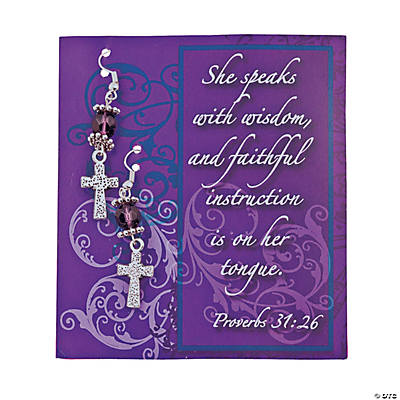 Woman of God Earrings Kit with Card