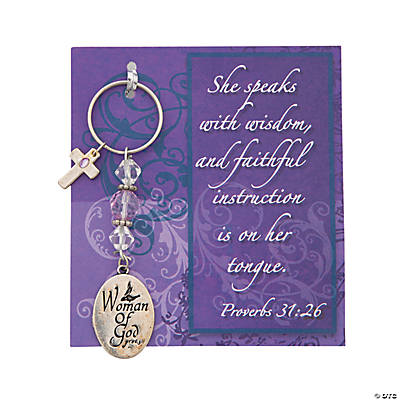 """Woman of God"" Key Chain Kit with Card"