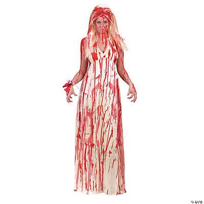 Women\'s Bloody Prom Dress Costume