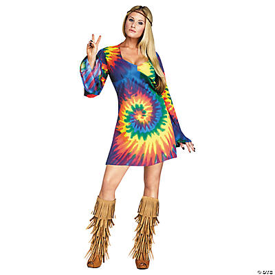Womenu0027s Groovy Gal Costume  sc 1 st  Oriental Trading : groovy woodstock baby costume  - Germanpascual.Com
