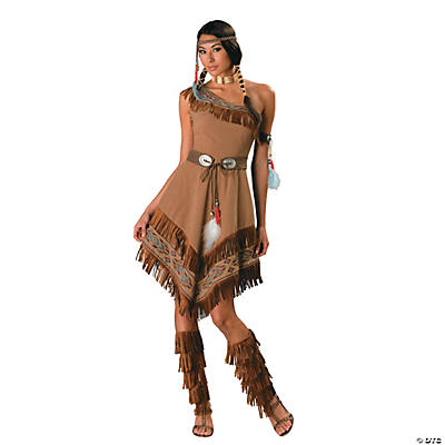 Womenu0027s Native American Maiden with Fringe Costume  sc 1 st  Oriental Trading & Adult Plus Size Costumes 2018 | Oriental Trading Company
