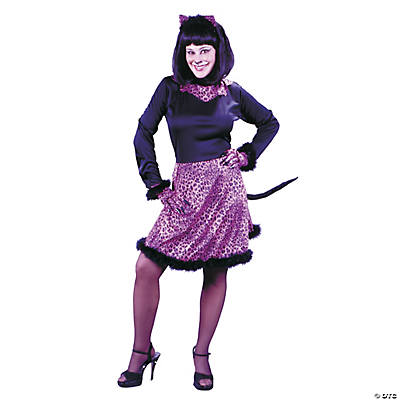 Women's Pink Marabou Kitty Costume