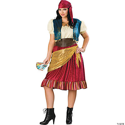 Womens Plus Size Gypsy Costume