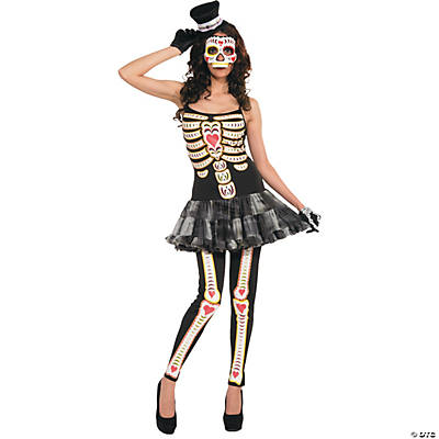 Women's Day Of The Dead Costume - Standard